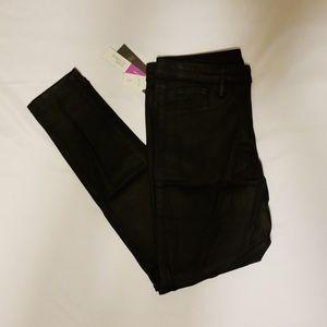 Mossimo denim leggings black coated